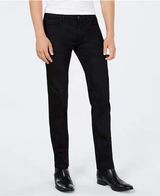 HUGO BOSS HUGO Men's Slim-Fit Charcoal Black Jeans