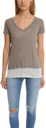 Majestic Filatures Double Layer V-Neck Tee