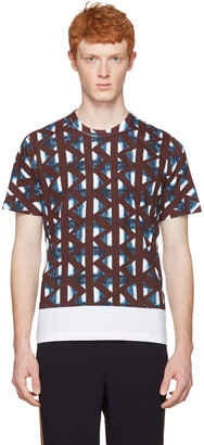 Marni White & Multicolor Thrum Print T-Shirt $295 thestylecure.com
