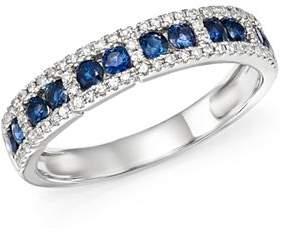 KC Designs 14K White Gold Diamond & Sapphire Stacking Ring