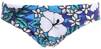 Hawaiian Printed Nylon Swim Briefs