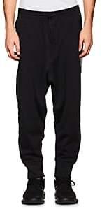 Y-3 Men's Cotton-Blend Tech-Jersey Jogger Pants-Black Size L