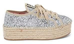 Miu Miu Women's Glitter Platform Sneakers