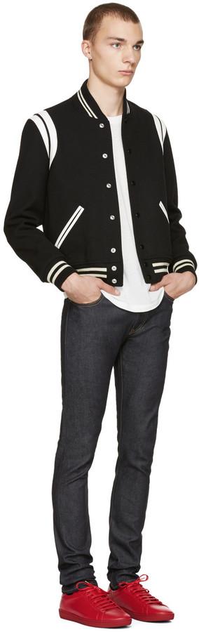Saint Laurent Black Teddy Bomber Jacket 4