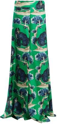 Gucci Wild cat-print high-rise wide-leg silk trousers
