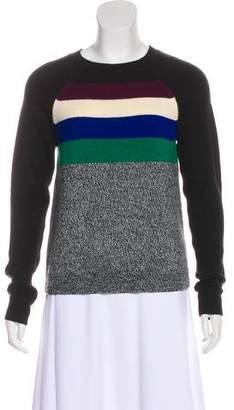 Tibi Striped Long Sleeve Sweater