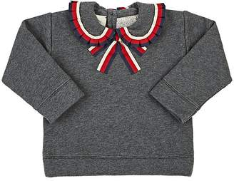 Gucci Infants' Ribbon-Trimmed Cotton Terry Sweatshirt