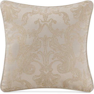 "Waterford Britt Reversible 18"" Square Damask Decorative Pillow Bedding"