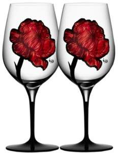 Kosta Boda Tattoo Wine Glasses, Set of 2