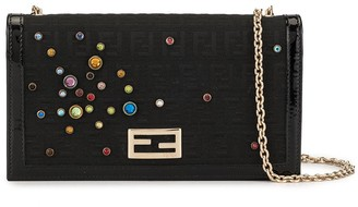Fendi Pre-Owned embellished Zucca wallet purse