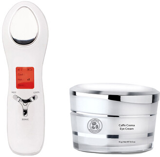 Caffe Coffee Evolution 0.5 Oz 2In1 Eye & Face Sonic Lifting And Pore Shrinking Device + Crema Dark Circle Defeater