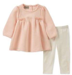 Calvin Klein Baby Girl's Two-Piece Tunic and Leggings Set