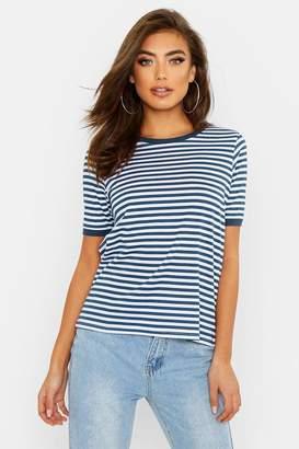 boohoo Stripe Ringer T-Shirt