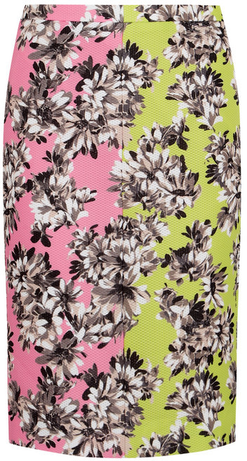 J.Crew Collection Mirror floral-print piqué pencil skirt