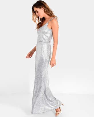 Forcast Alexis Gathered Maxi Dress