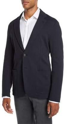 Emporio Armani Men's Soft Texture Two-Button Blazer Jacket