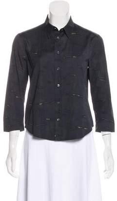 Prada Printed Button-Up Top