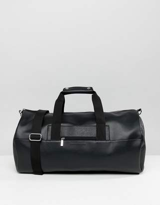 French Connection Faux Leather Barrel Carryall