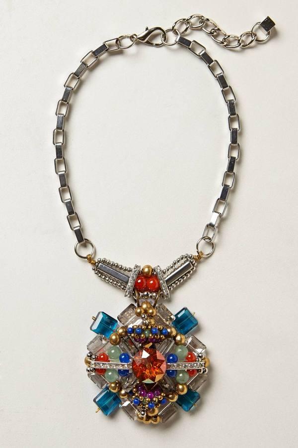 Anthropologie Damselfly Pendant Necklace