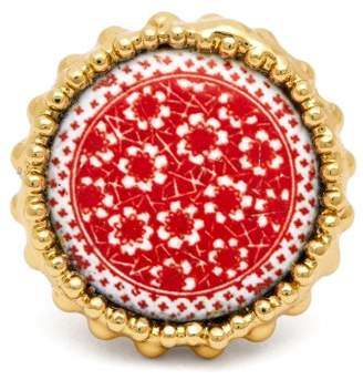 Rosantica By Michela Panero - Ciucciue Ceramic Tile Signet Ring - Womens - Red