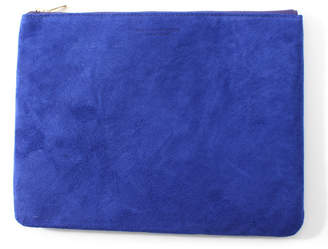 Arenot (アーノット) - アーノット スエード フラットポーチ L ブルー(SUEDE FLAT POUCH L blue)