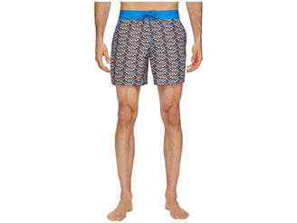 Mr.Swim Mr. Swim Fish Swirls Chuck Swim Trunks Men's Swimwear