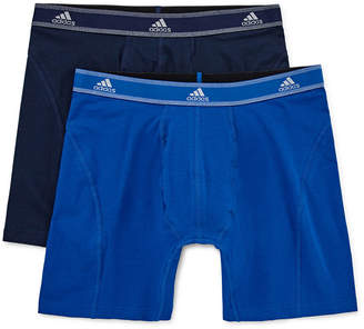 adidas 2-pk. Relaxed Performance Cotton Stretch climalite Boxer Briefs