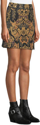 Free People Winter Warrior Medallion Brocade Mini Skirt
