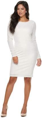 JLO by Jennifer Lopez Women's Boucle Sheath Dress