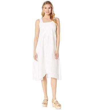 Elliott Lauren Stone Wash Linen Long Dress with Seam Detail