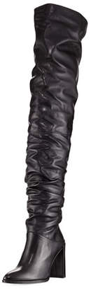 Stuart Weitzman Histyle Slouchy Napa Over-The-Knee Boot