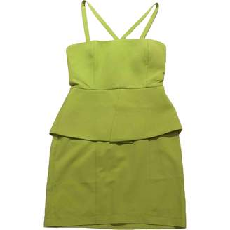 Aq/Aq Aqaq Green Cotton Dress for Women