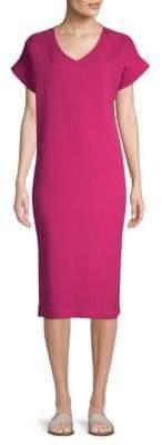 Eileen Fisher Cotton Gauze V-Neck Dress