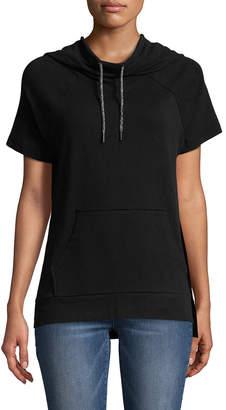 Betsey Johnson Performance Cotton Hooded Sweatshirt