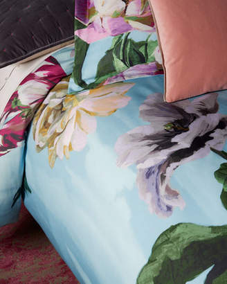 Designers Guild Delft Flower Sky Queen Duvet Cover
