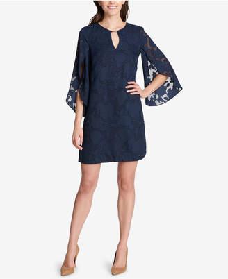Kensie Floral Split-Sleeve Shift Dress