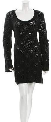 Autumn Cashmere Long Sleeve Crochet Dress