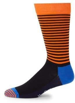 Happy Socks Half Stripe Mid-Calf Socks