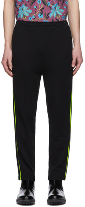 Prada Black and Green Stripe Lounge Pants