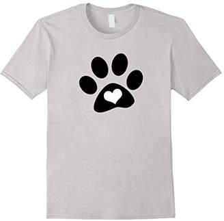 Love Dogs Paw Heart Novelty Fashion T Shirt Top