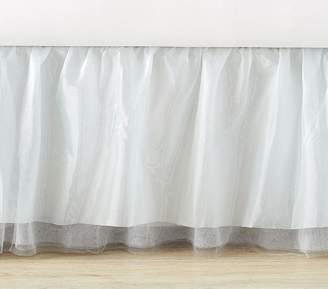 Pottery Barn Kids Icy Tulle Bed Skirt, Twin, Blue
