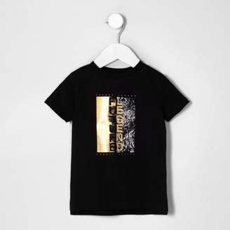 River Island Mini boys black 'future legend' T-shirt