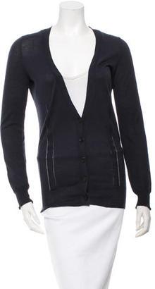 Vera Wang Long Sleeve V-Neck Cardigan $65 thestylecure.com