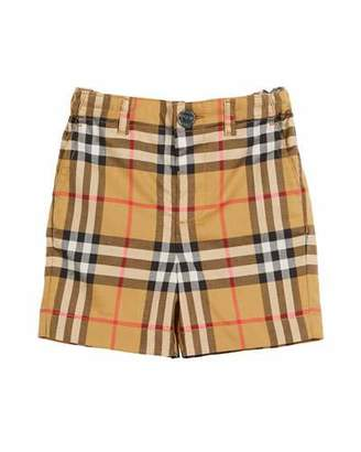 Burberry Sean Check Twill Shorts, Size 6M-3