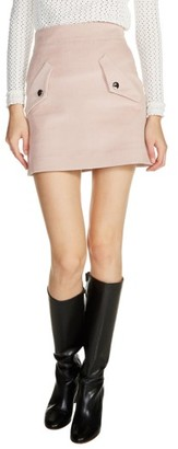 Women's Maje Two-Pocket A-Line Miniskirt $210 thestylecure.com