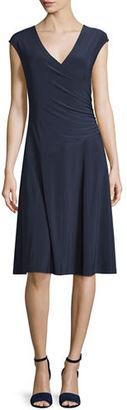 NIC+ZOE Cap-Sleeve Faux-Wrap Dress $128 thestylecure.com