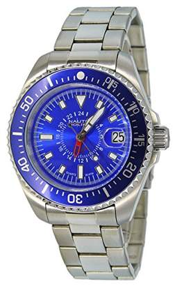 7bc2bb8c40c at Amazon.co.uk · Gents Nautec No Limit DS QZ-GMT/STSTBLBL Watch XL  Analogue Quartz Stainless Steel