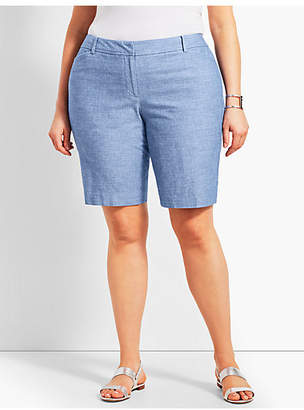 "Talbots Plus Size Exclusive 10 1/2"" Chambray Perfect Short - Curvy Fit"