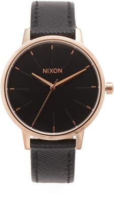 Nixon Lux Life Kensington Leather Watch $125 thestylecure.com