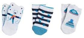 3 Pack of Polar Bear and Winter Design Socks
